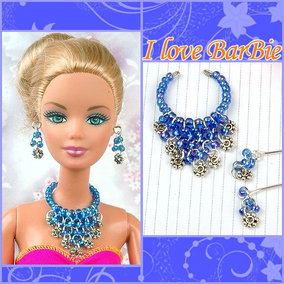 17b4cfe78167f barbie doll jewelry set barbie necklace and earring | ~*~Barbie ღ ...
