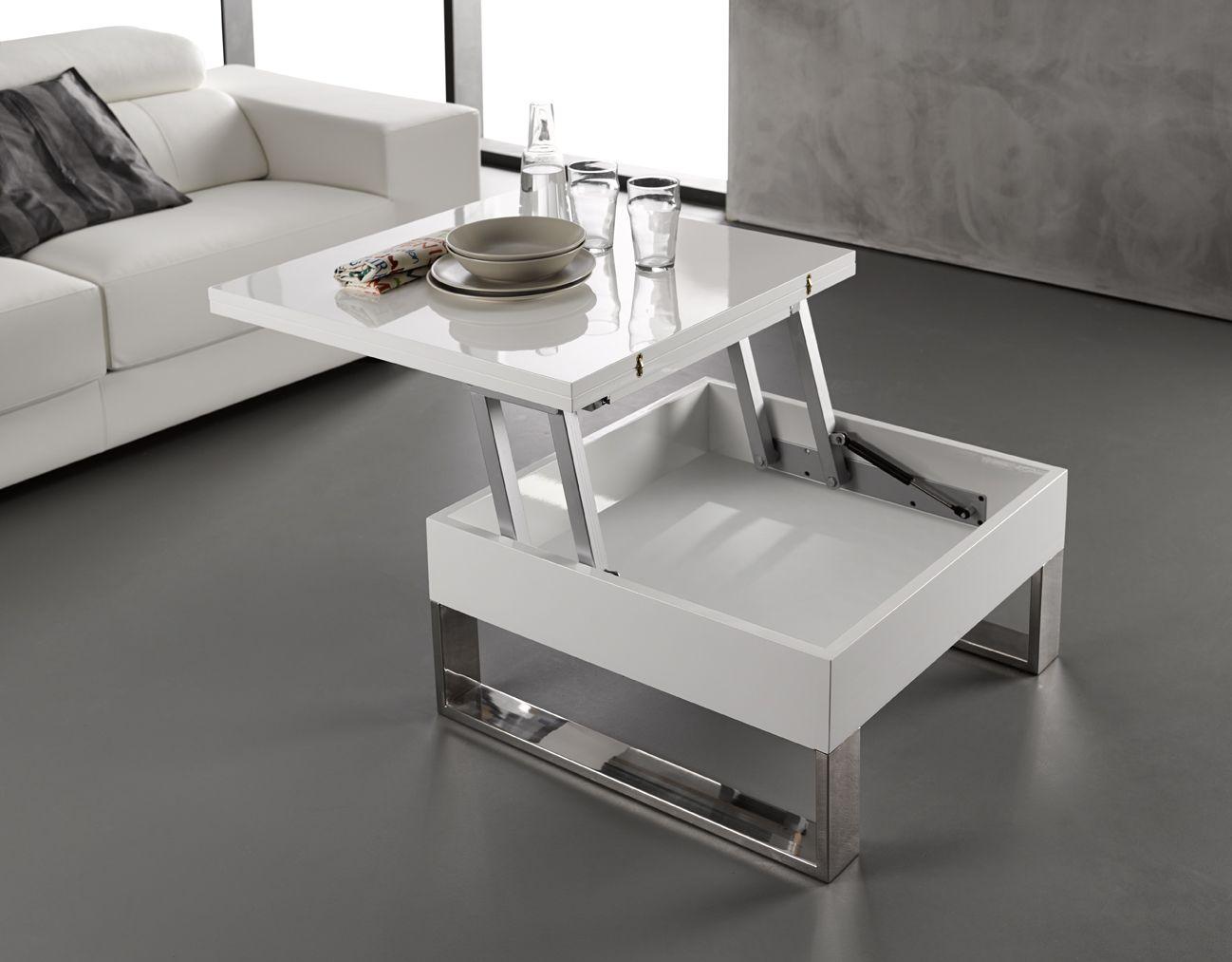 Etonnant Petite Table Basse Blanc Laque Center Table Living Room