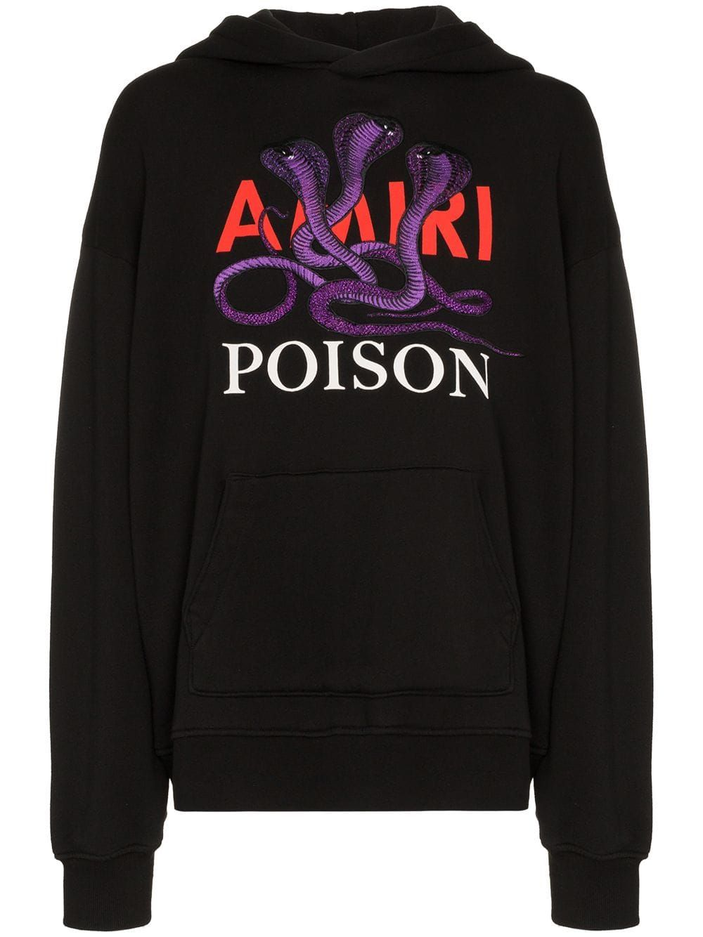 Amiri Fashion Black Poison Cotton cloth Hoodie amiri gnqzpOg6