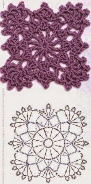 Crochet Patterns Mileuri Crosetate Rozete Careuri Frunze Flori