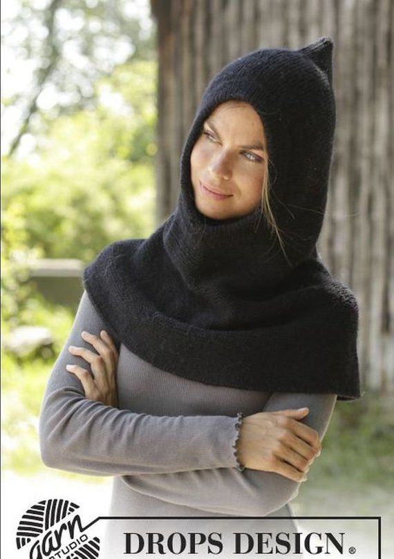 Photo of Hand-knitted womans hooded bowl/hooded loop/snood/clamp/hood Schal/bonnet/neck heat/gift. To order.