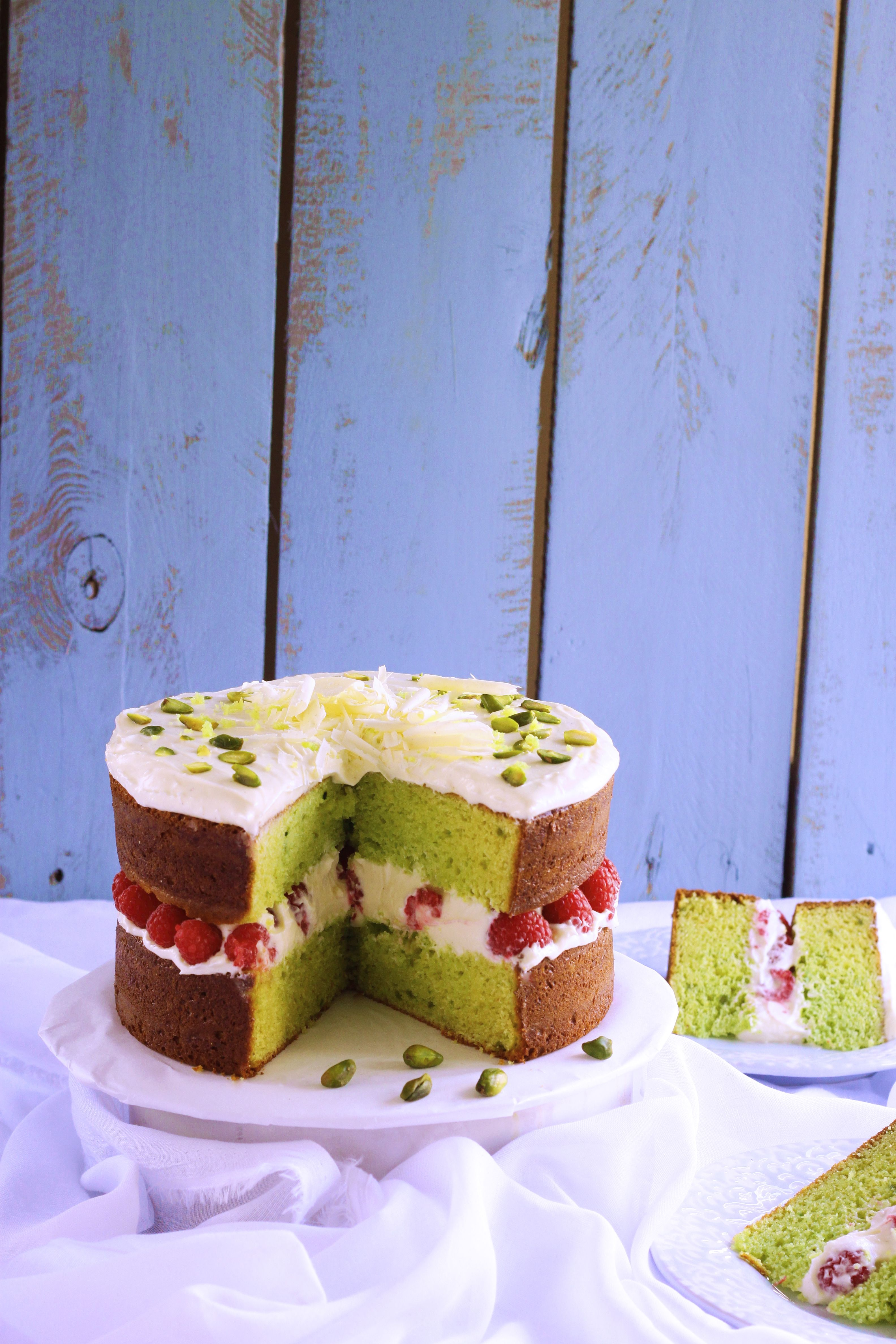 Eggless Pistachio And Raspberry Buttermilk Cake K O Rasoi Eggless Cake Recipe Eggless Baking Pistachio Cake