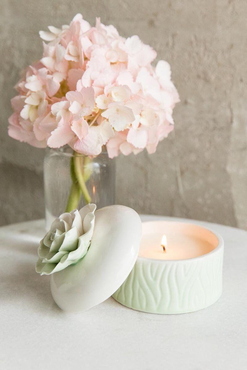 Floral Succulent Candle Jar
