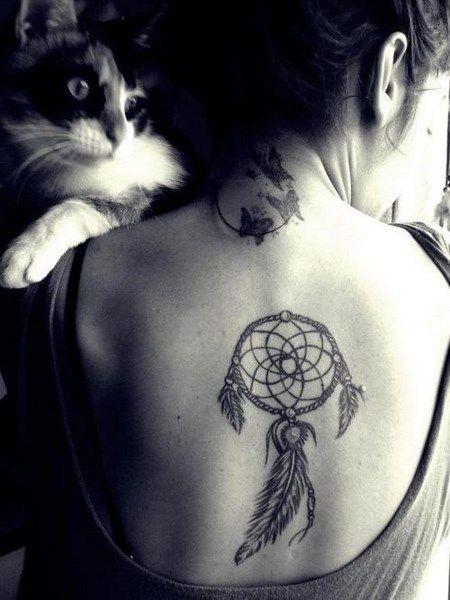 tatouage attrape reve dos tatoo pinterest tatoo. Black Bedroom Furniture Sets. Home Design Ideas