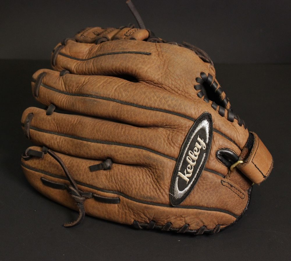12 Baseball Glove Kelley Brown Leather Right Handed Thrower Kgs12 Infield Kelley Leather Baseball Glove Brown Leather