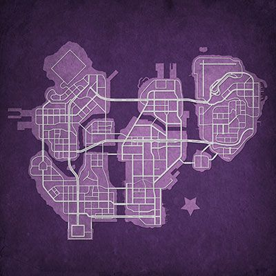 Saints Row: The Third Map Art | Saints Row Inspired Drinks | Saints ...