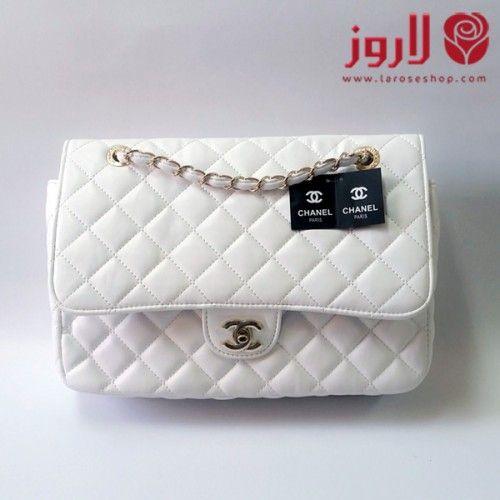 شنطة شانيل Chanel ابيض ميني بحلقات ذهبية من لاروز اسواق التجارة السعودية Blue Wallpaper Iphone Shoulder Bag Bags