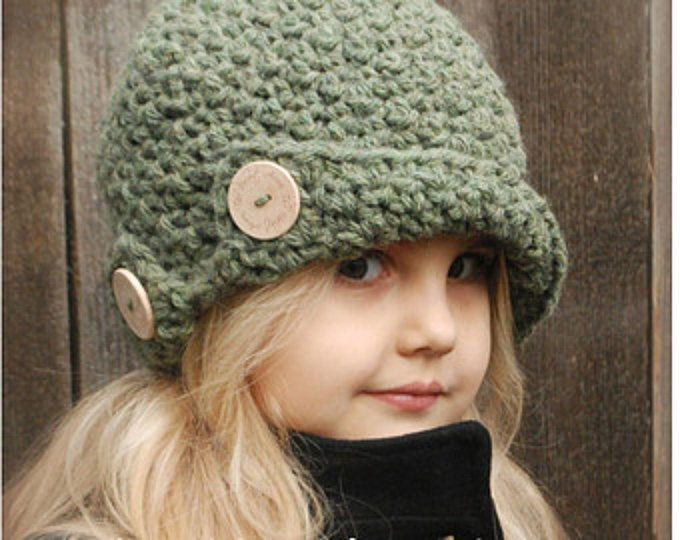 Crochet PATTERN-The Bristle Cloche\' (Toddler, Child, and Adult sizes ...
