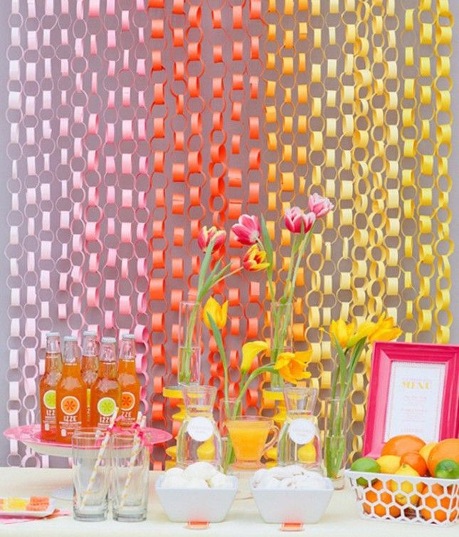 Make This Colorful Backdrop Using Construction Paper
