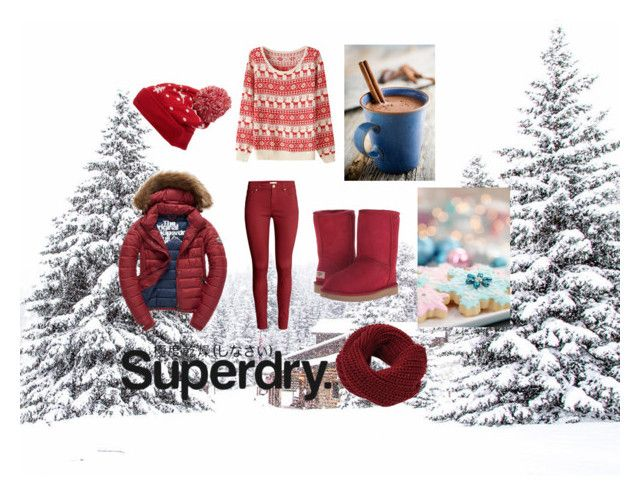 """The Cover Up – Jackets by Superdry: Contest Entry"" by blooberry303 ❤ liked on Polyvore featuring Collection XIIX, Fuji, UGG Australia, H&M and Superdry"