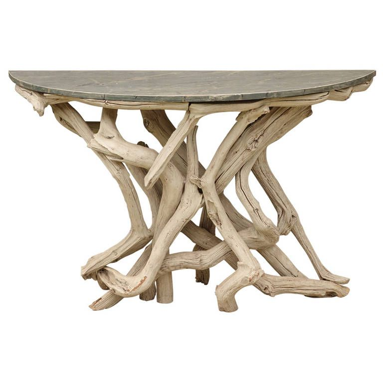 Captivating Folk Art Twig Console Table At 1stdibs