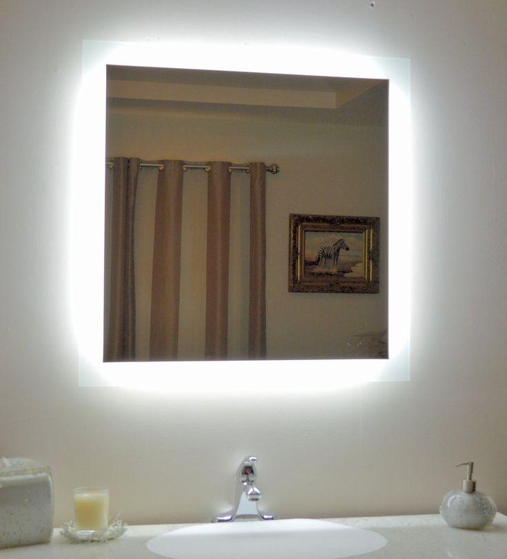 Seitlich Beleuchteter Led Badezimmerspiegel 36 X 36