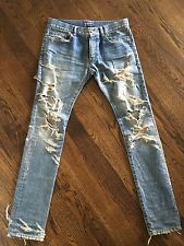 835e1d1f5ef Saint Laurent Paris D02 Big Crash denim blue jeans FW13 sz. 32 ...