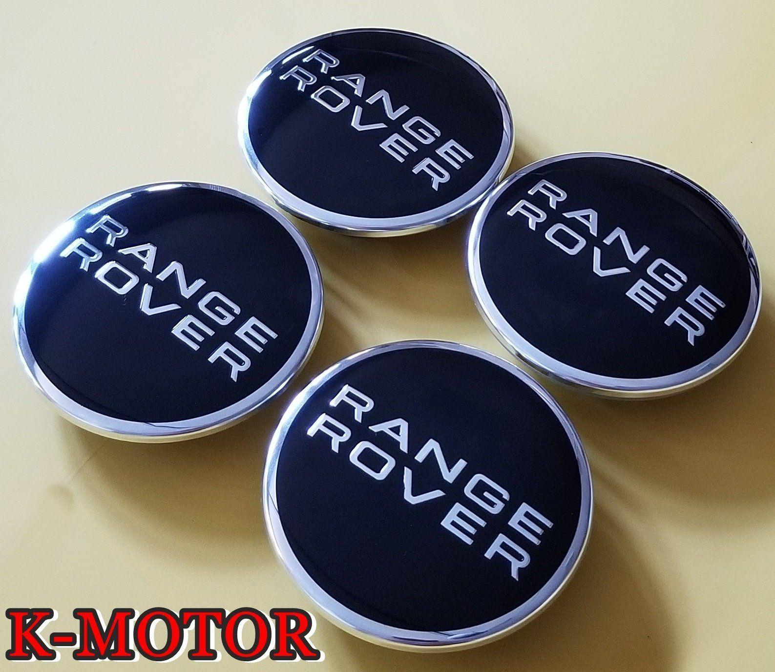 4 Pcs Range Rover Land Rover Wheel Center Hub Cap Rim Black Chrome Logo Badge Performance Kmotor Hub Caps Honda Wheels Range Rover