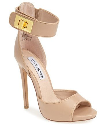 STEVE MADDEN nude ankle cuff pump found at Nudevotion.com