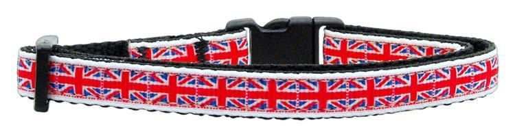 Union Jack Uk Flag Design Cat Safety Collar Made In Usa Cat