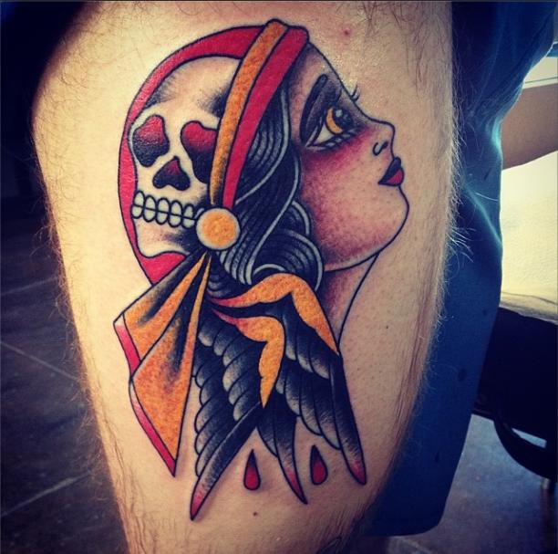 By Andrew Thaxter. Liquid Fetish Tattoo. Fresno, California.