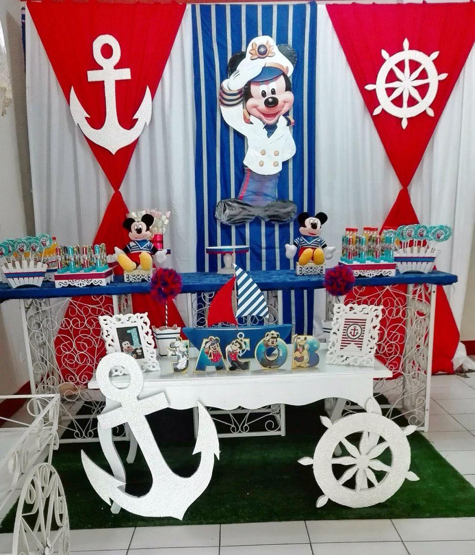 Mickey Marinero Mickey Marinero Decoración Marinero Cumpleaños Marinero