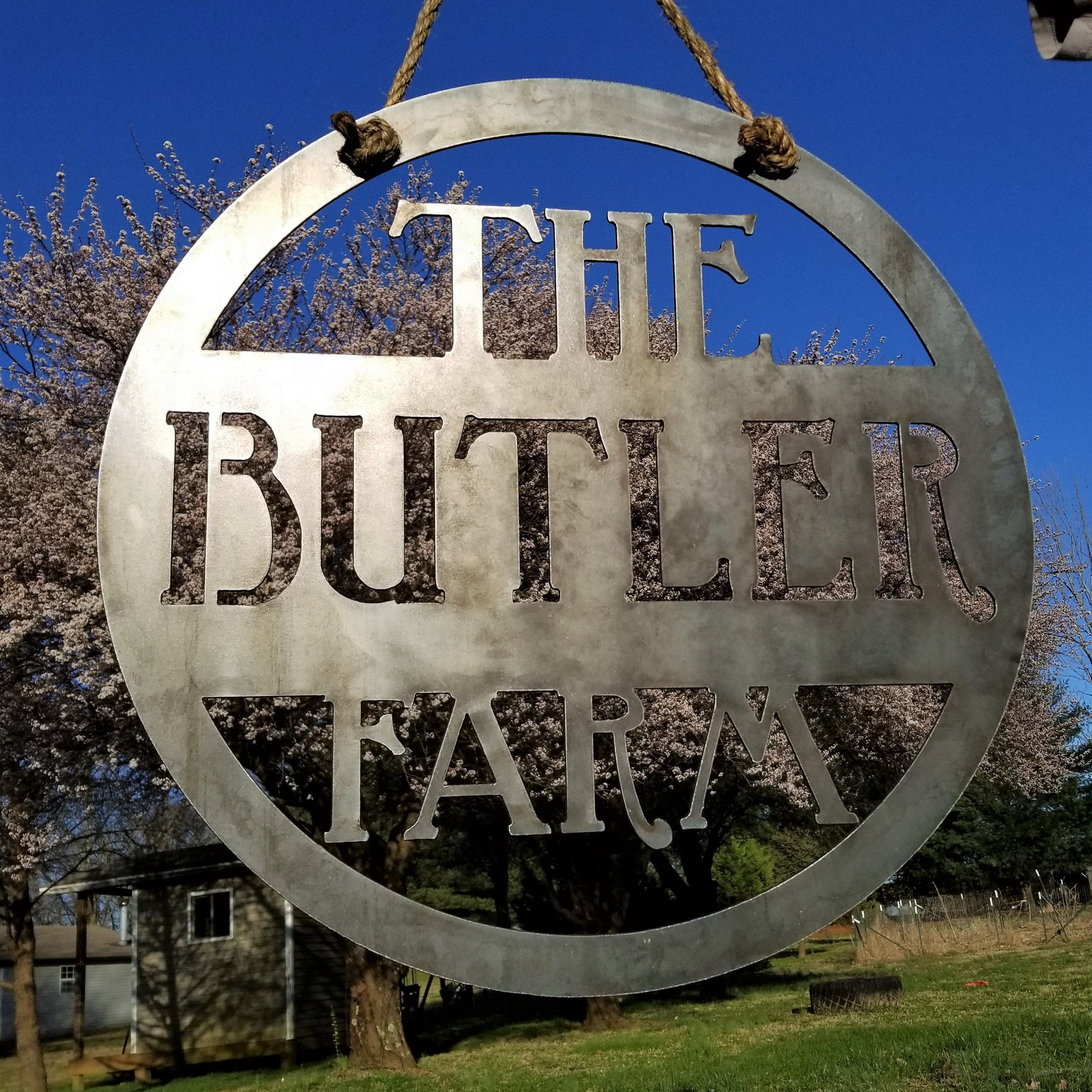 Ranch Custom Metal Sign Hanging Farm Sign Personalized Family Name Sign