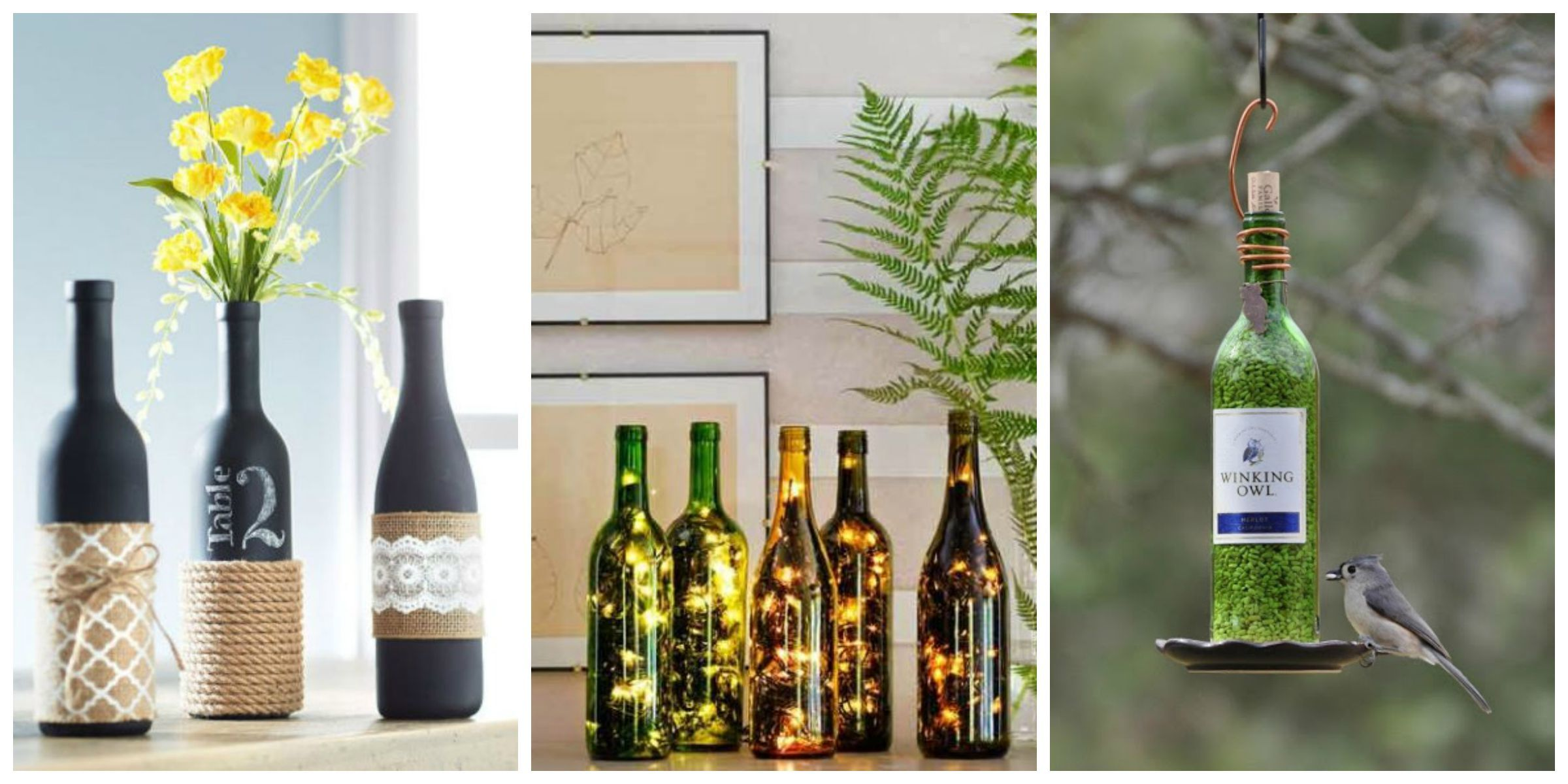 Creative Ways To Repurpose Your Empty Wine Bottles Upcycled