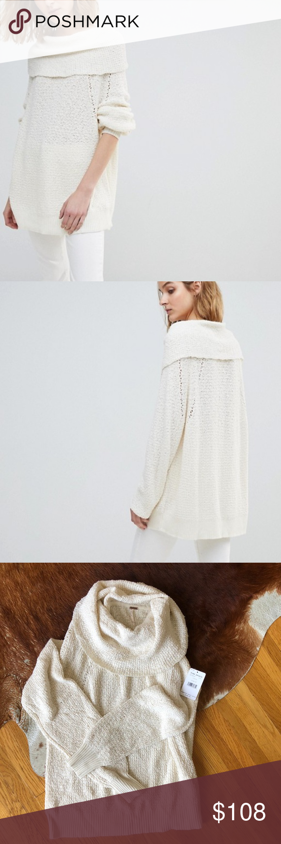 Nwt Free People By Your Side Ivory Sweater Size M Nwt My Posh