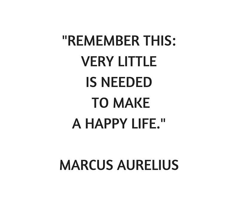 'Stoic Philosophy Quote - Marcus Aurelius - Very Little is ...