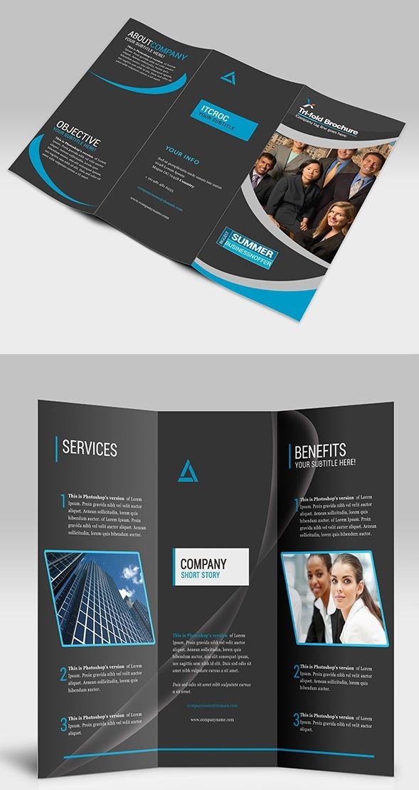 Check Out This Behance Project Sample TriFold Brochure Https