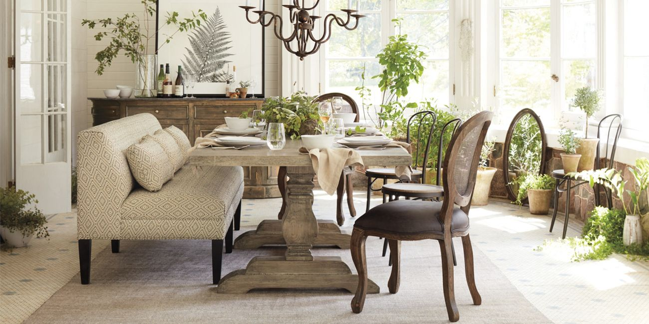 Kitchen Table And Chairs Louisville Ky New Kensington Dining Table Arhaus Furniture Dining Spaces 265 3