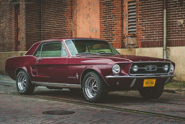 The 1967 Ford Mustang In Dark Cherry Sweet Mustang Coupe 67
