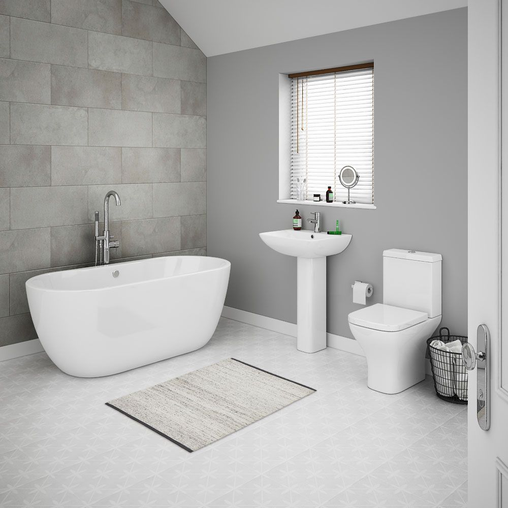 Venice Modern Freestanding Bath Suite | Freestanding bath, Victorian ...