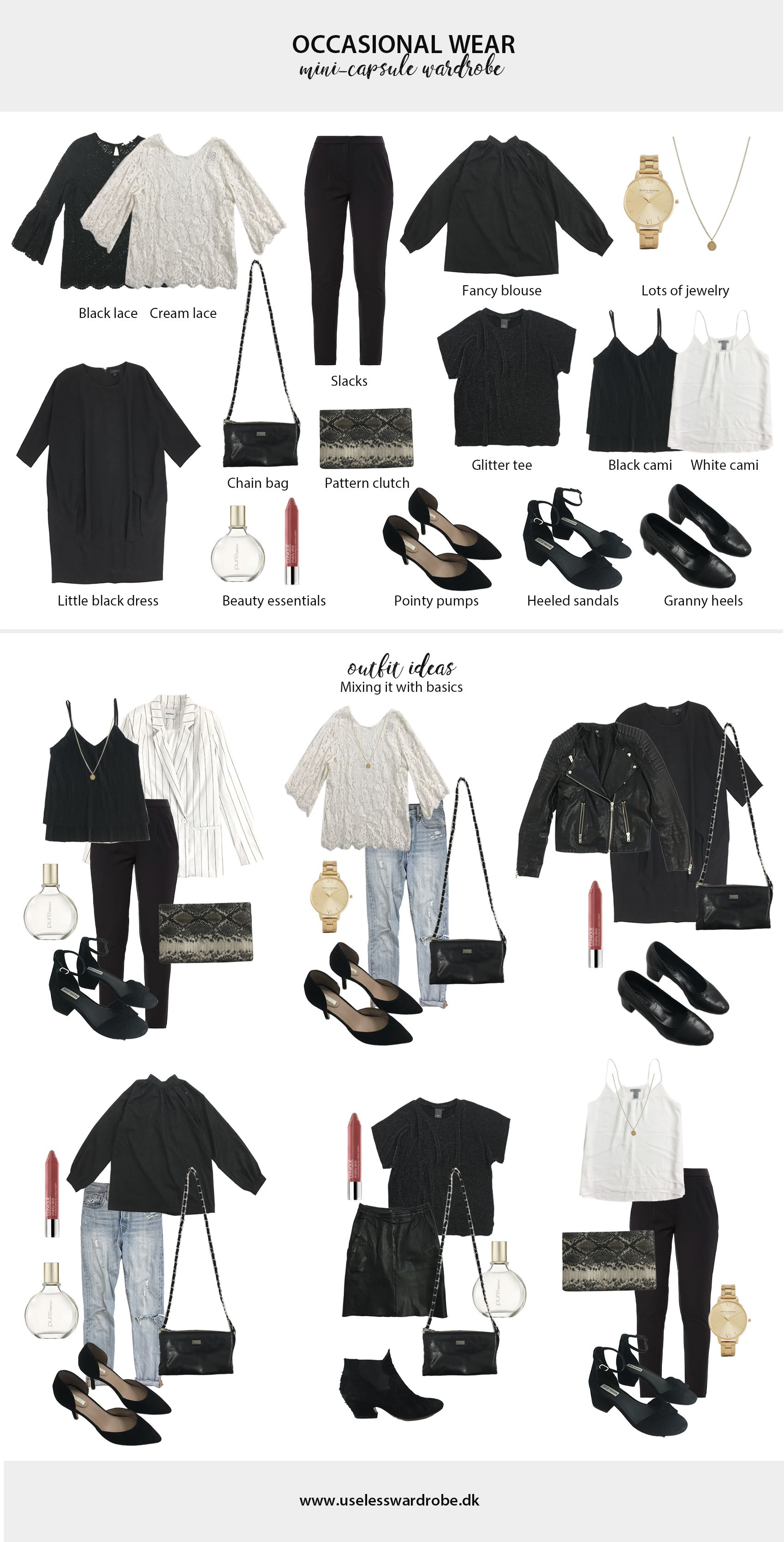 4bea65106e4b Your failsafe guide on how to build a mini-capsule wardrobe of occasional  wear.