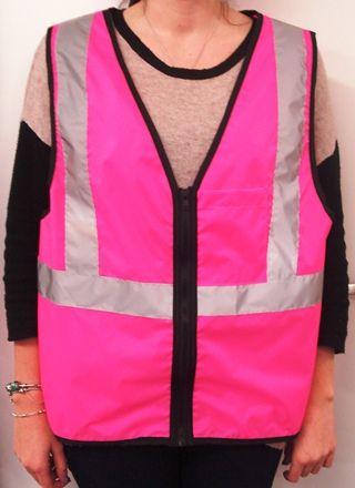 Hi Vis Vest - Hot Pink with tape | Work Stuff I Need | Pinterest ...