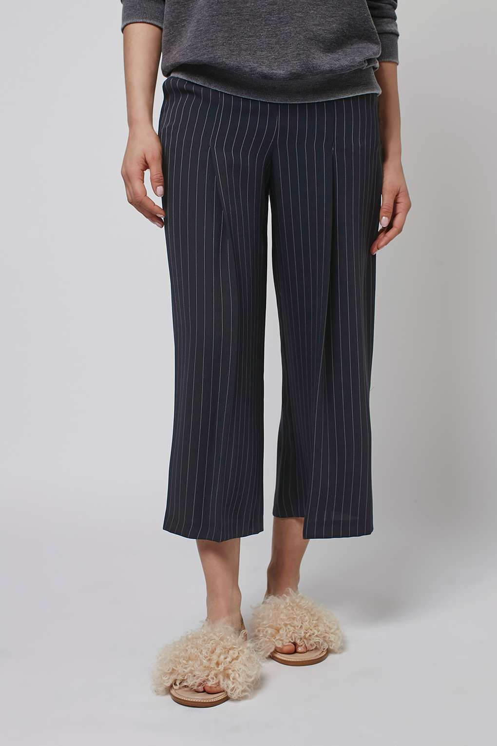 sneakers best quality buy online Pin Stripe Wide Leg Cropped Trousers   Spring 2016 Shopping ...