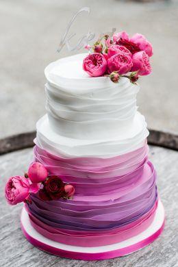 Farbverlauf Klappt Auch Bei Der Hochzeitstorte Dieses Schlichte