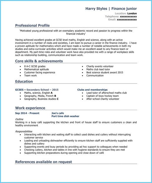 Blank One On Twitter Good Cv Cv Template Student Cv For Students