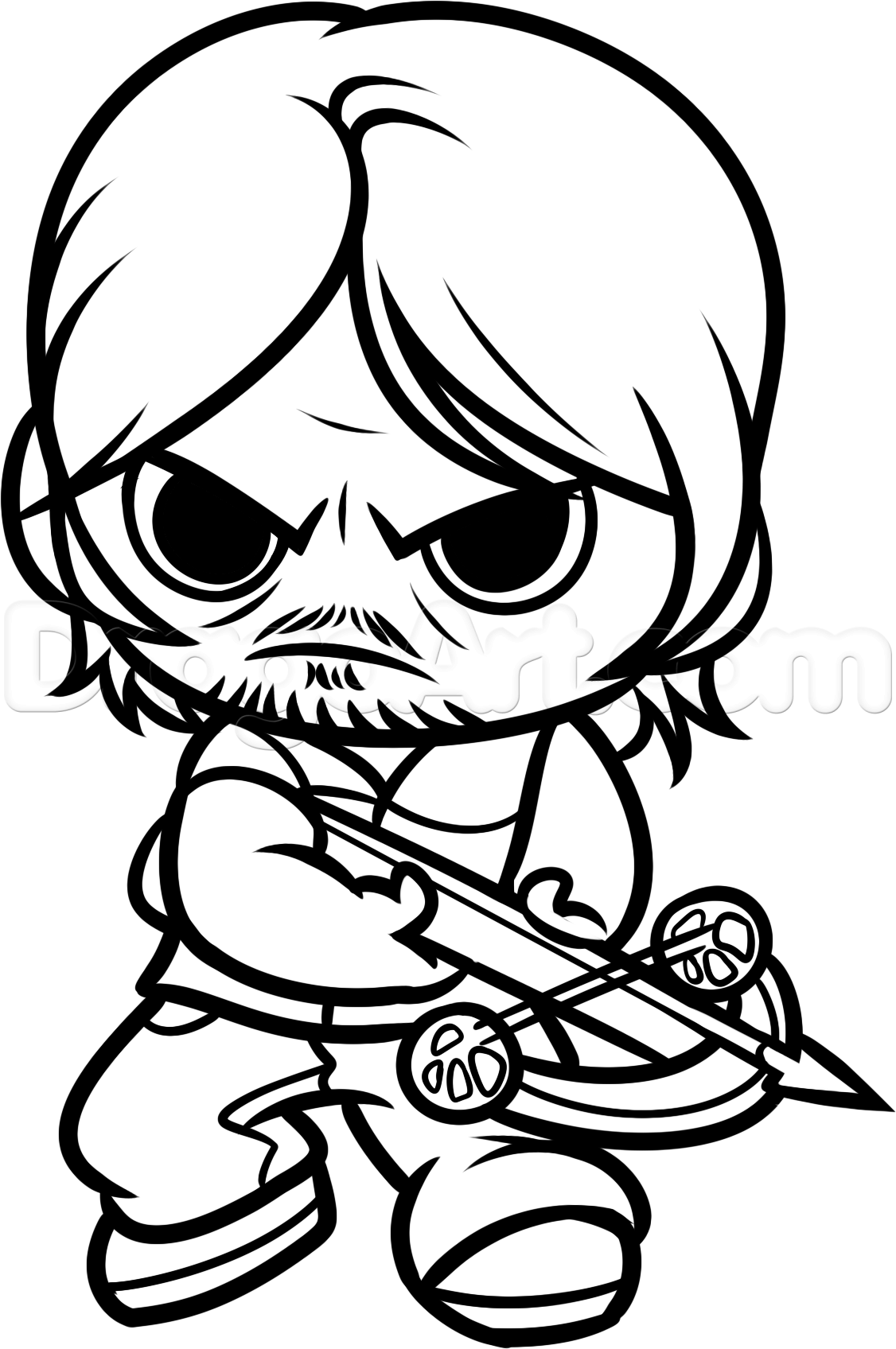 How To Draw Chibi Daryl by Dawn | Walking dead drawings, Chibi ...