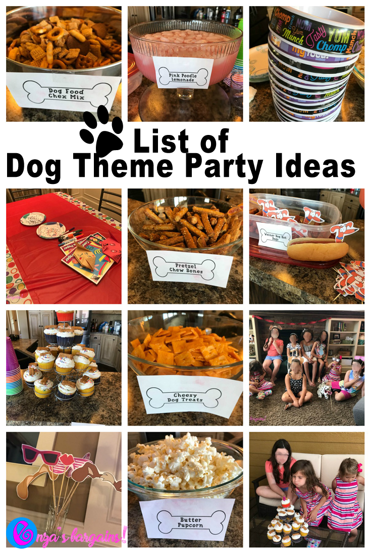 dog themed party food