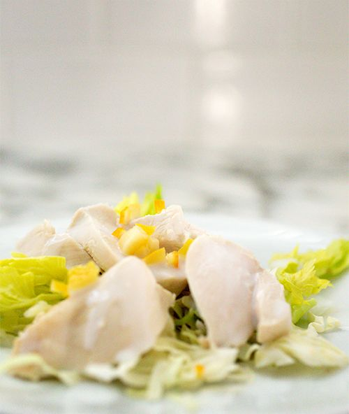 Lemon Poached Chicken Salad With Buttermilk Dressing A Stack Of Dishes Recipe Poached Chicken Spicy Recipes Chicken Salad