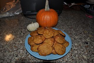Losin it with PINK: Low Calorie/Low Sugar Pumpkin Cookies