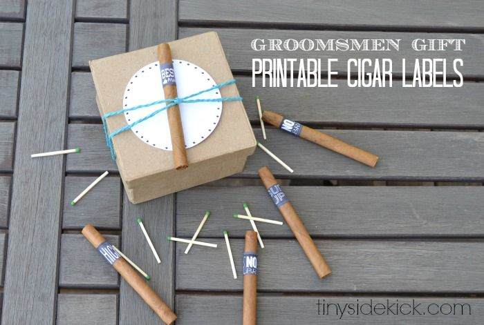 Printable Cigar Labels for a Groomsmen Gift