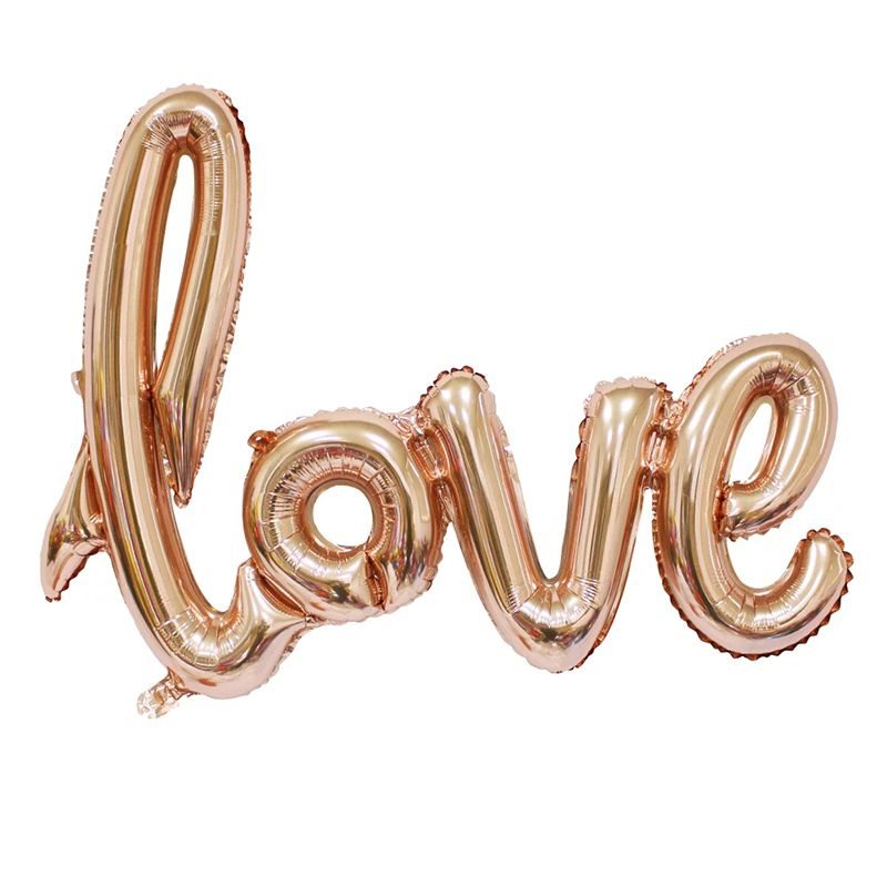 Rose Gold Red Love Foil Balloon Wedding Decoration - Wedding Look