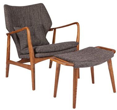 Arne Vodder Armchair and Stool Lounge Chair Modern