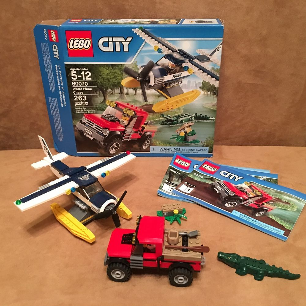 60070 Lego Complete City Water Chase Box Instructions Escape Police