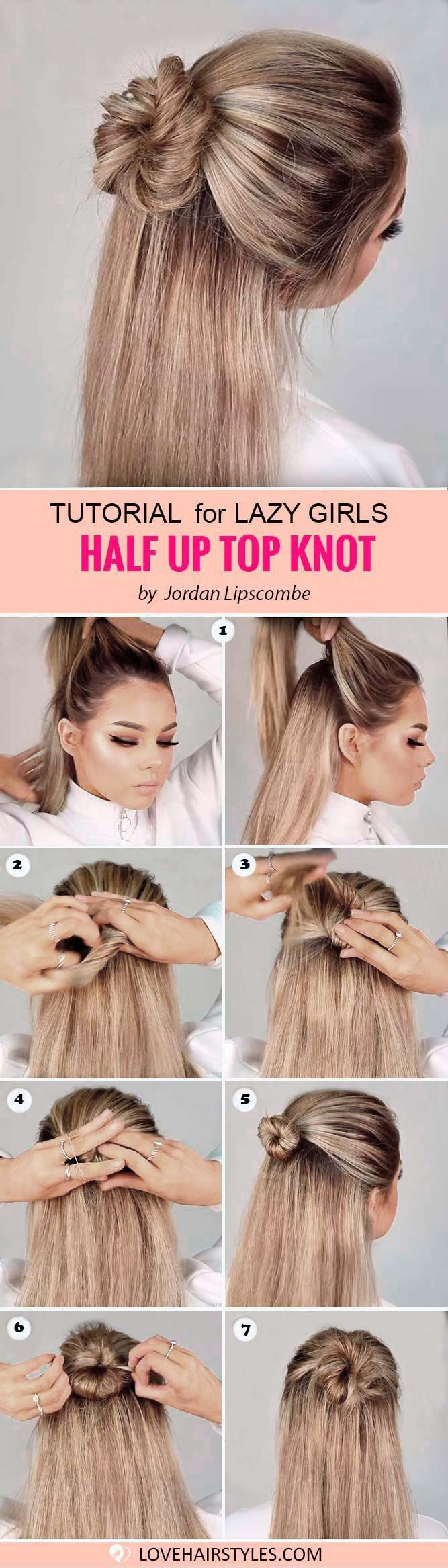 7 Perfectly Easy Hairstyles For Medium Hair Hairstyles Pinterest