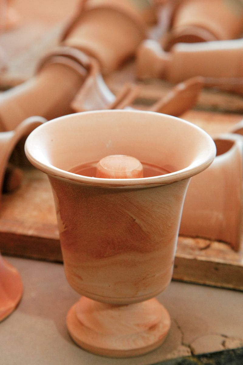 Buy Pythagora's cup! The famous mathematicia Pythagoras, during water supply works in Samos around 530 BC, moderated the workers' wine drinking by inventing the 'fair cup'. When the wine surpasses the line, the cup totally EMPTIES, so the greedy one is punished. #samos #island #pythagoras #cup #ancient #greece
