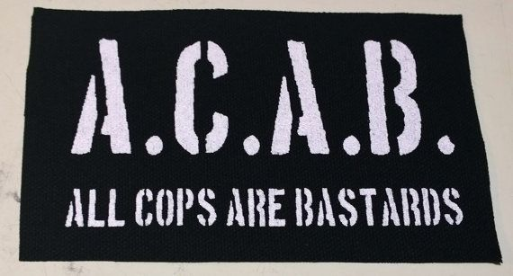 A C A B Canvas Patch Free Shipping All Cops Are Bastards Crust