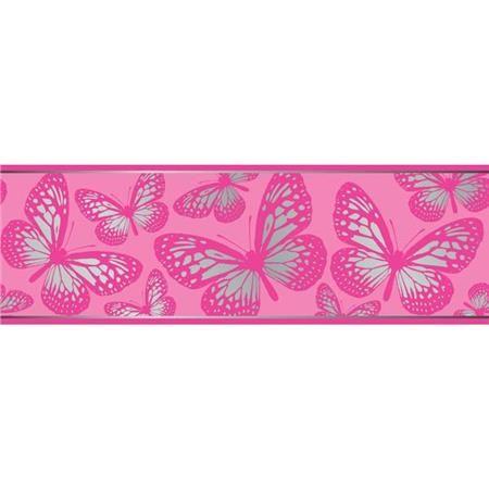 Butterflies Wall Border Decal Fun4walls Self Adhesive Wallpaper Butterfly Wall Pink Wallpaper Border