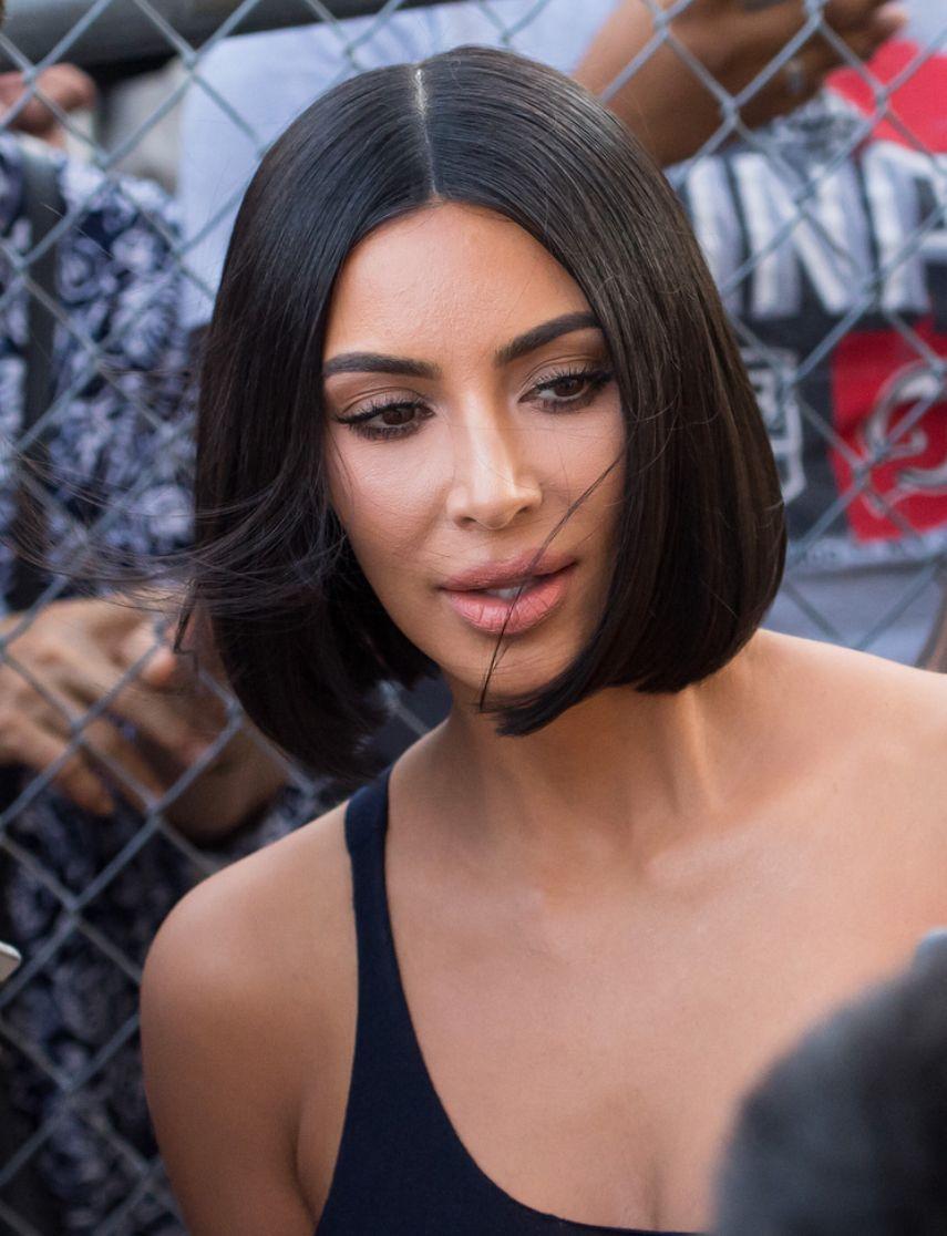 Kim Kardashian With Short Bob Kim Kardashian Short Hair Kim Kardashian Hair Kardashian Hair