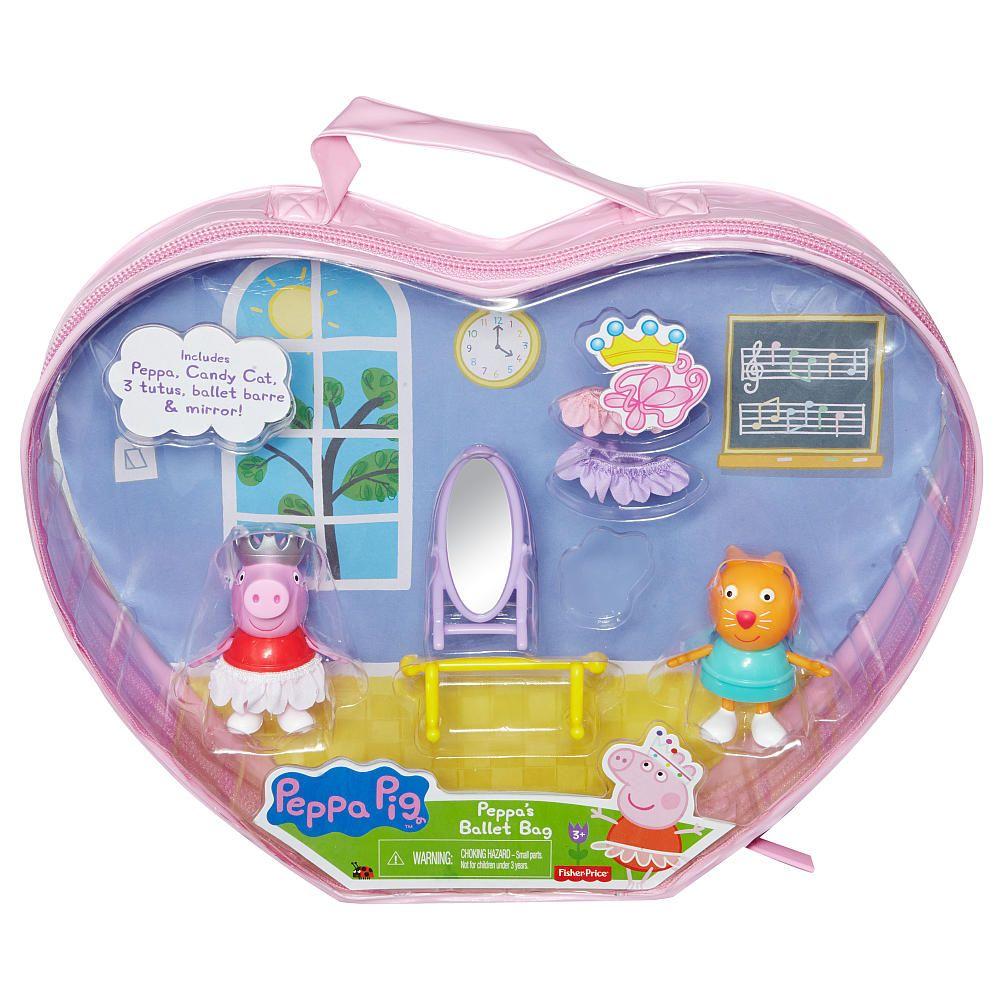 Fisher price peppa pig peppa 39 s ballet bag fisher price - Maletas infantiles toysrus ...