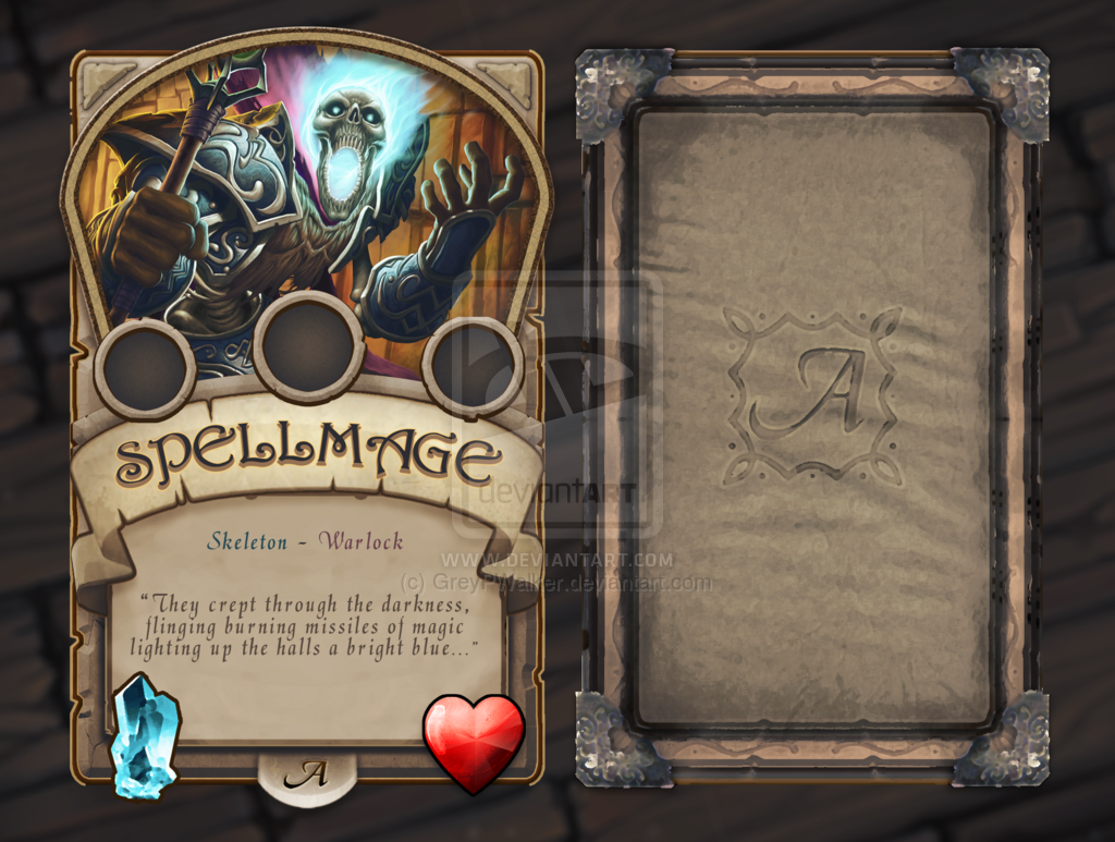 Fantasy Trading Card Google Search Game Card Design Pinterest